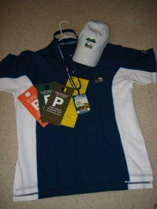 Major\'s and Son Major\'s gear for the U.S. Open